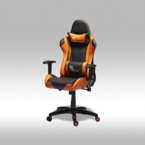 Gaming chair – sort/orange