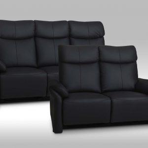 Luxor 3+2 pers. ægte læder – recliner